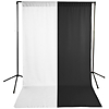 Savage White  and  Black Solid Muslin Backdrop with Background Support Stand