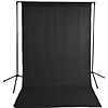 Savage Black Solid Muslin Backdrop with Background Support Stand