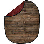 Savage 5x7 Collapsible Red/Brown Wood Backdrop