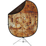 Savage 5x7 Collapsible Brown/Industrial Grunge Backdrop with Stand