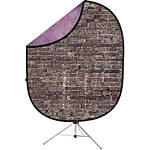 Savage 5x7 Collapsible Purple/Grunge Brick Backdrop with Stand