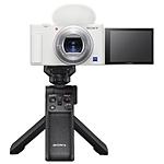 Sony ZV-1 Digital Camera with Vlogger Accessory Kit (White)