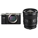Sony Alpha a7C Mirrorless Digital Camera Body (Silver) w/20mm f/1.8 G Lens