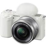 Sony ZV-E10 Mirrorless Camera with 16-50mm Lens (White)
