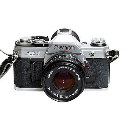 Used Canon AE-1 Program Film SLR with 50mm f/1.8 Chrome - Excellent