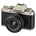 Used Fujifilm X-T100 Champagne w/ XC15-45mmF3.5-5.6 OIS PZ Kit - Excellent