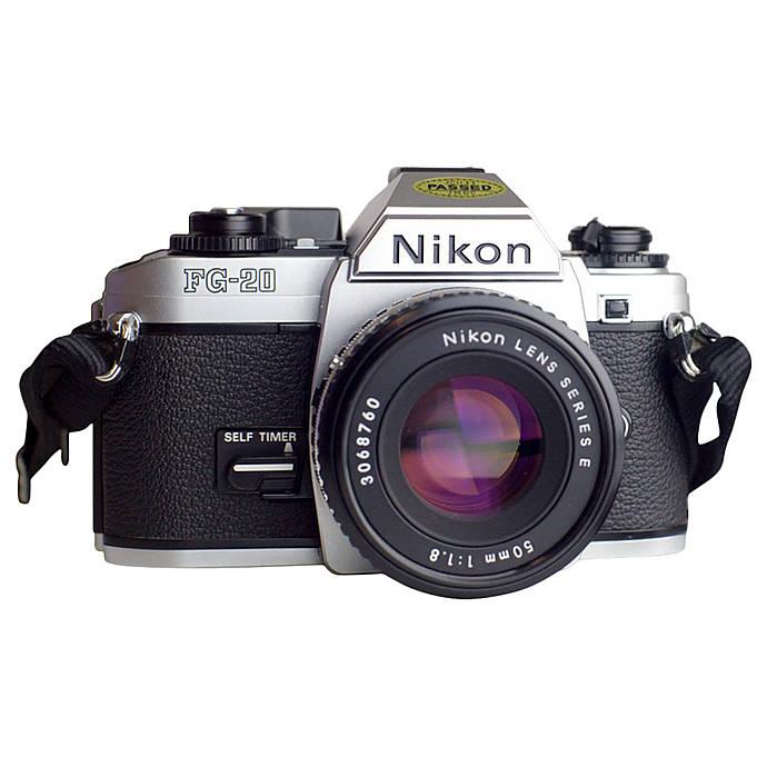 Used Nikon FG-20 With 50MM F/1 8 Series E - Fair
