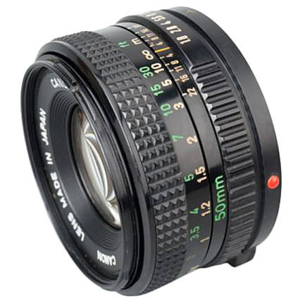 Used Canon FD 50mm f/1.8 Lens - Good