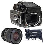 Used Mamiya 645 1000S, 45mm f/2.8, Winder, Prism, 3 120 Holders - Good