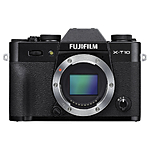 Used Fuji X-T10 Body Only Black - *Works fine - crack in body* - As Is
