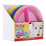 Nuby Embossed Section Plate in a 6 Piece Tray