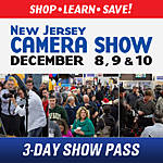 New Jersey Camera Show 3-Day Pass: December 8th, 9th, 10th