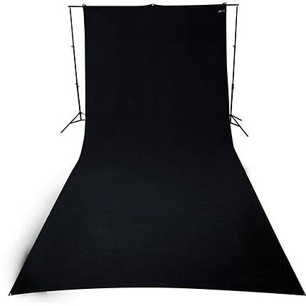 Westcott 9x20 Ft Rich Black Matte Heavy Duty Wrinkle Resistant BackDrop