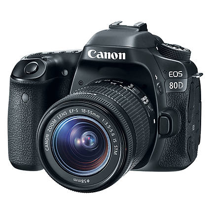 Canon EOS 80D Digital SLR Camera with 18 - 55mm STM Lens
