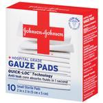 Johnson  and  Johnson Gauze Pads 10ct 2inch x 2inch