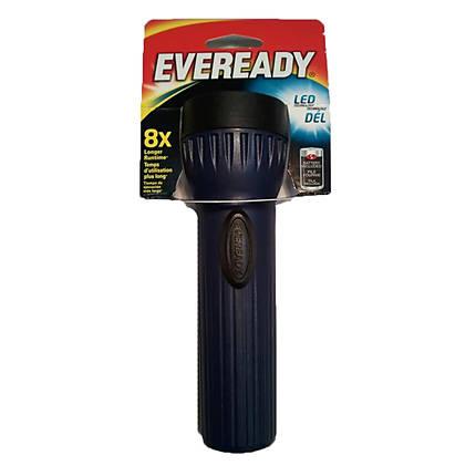 Eveready Flashlight LED w/1 D Battery Hangable