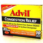 Advil Congestion Tablets 10ct