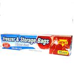 Home Select Freezer  and  Storage Bags Zipper Seal Gallon Size (15ct)